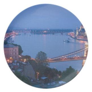 HUNGARY, Budapest: Szechenyi (Chain) Bridge, 2 Plate