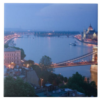 HUNGARY, Budapest: Szechenyi (Chain) Bridge, 2 Tile