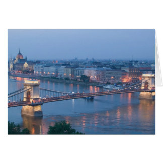 HUNGARY, Budapest: Szechenyi (Chain) Bridge, 3 Card