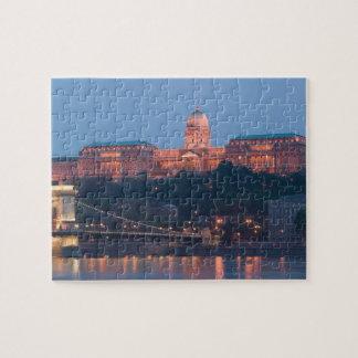 HUNGARY, Budapest: Szechenyi (Chain) Bridge, Jigsaw Puzzle