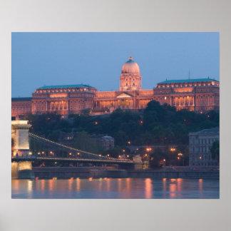 HUNGARY, Budapest: Szechenyi (Chain) Bridge, Poster