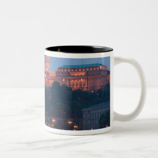 HUNGARY, Budapest: Szechenyi (Chain) Bridge, Two-Tone Coffee Mug