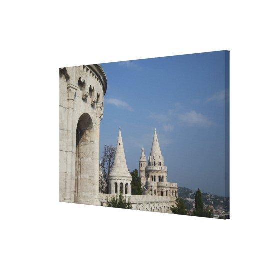 Hungary, capital city of Budapest. Buda, Castle Canvas Print
