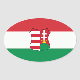 Hungary Car Oval Oval Sticker