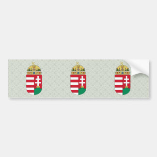Hungary Coat of Arms detail Bumper Sticker