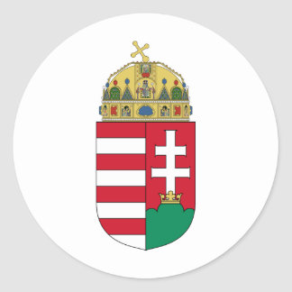 Hungary Coat of arms HU Classic Round Sticker