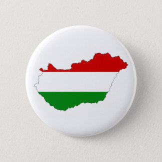 hungary country flag map shape symbol 6 cm round badge