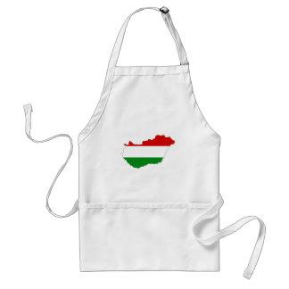 hungary country flag map shape symbol standard apron