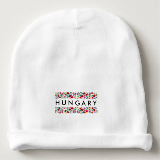 hungary country symbol name text folk motif tradit baby beanie