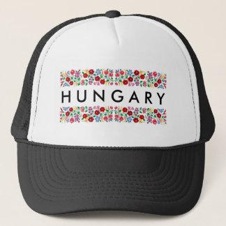 hungary country symbol name text folk motif tradit trucker hat