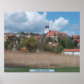 Hungary countryside print