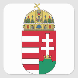 hungary emblem square sticker