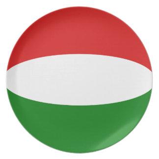 Hungary Fisheye Flag Plate