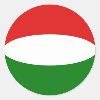 Hungary Fisheye Flag Sticker
