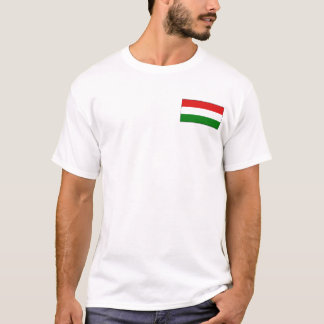 Hungary Flag and Map T-Shirt
