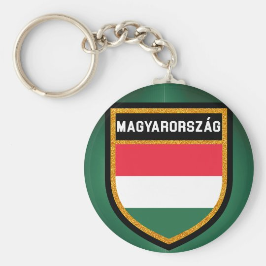 Hungary Flag Basic Round Button Key Ring