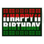 Hungary Flag Birthday Card