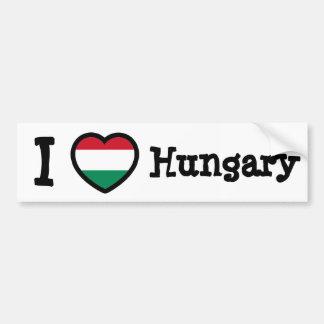 Hungary Flag Car Bumper Sticker
