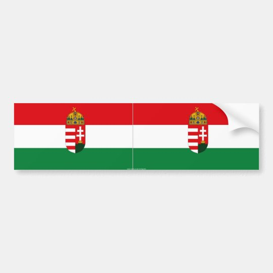 Hungary flag bumper sticker