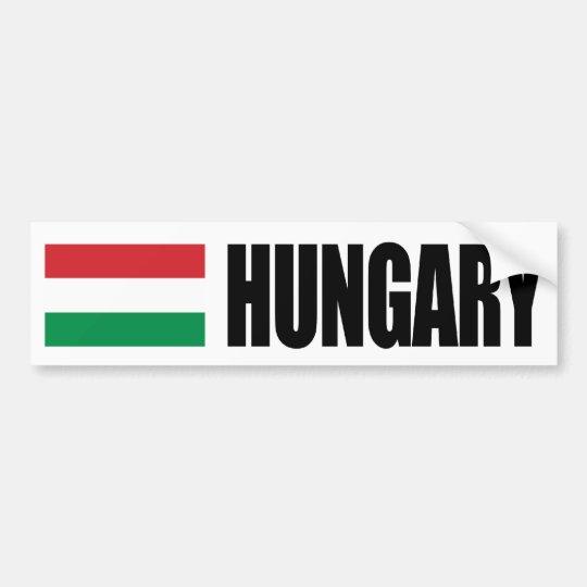 Hungary Flag Bumper Sticker