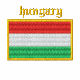 Hungary Flag Embroidered Ladies Polo