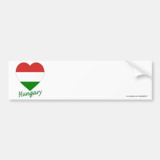 Hungary Flag Heart Bumper Sticker
