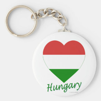 Hungary Flag Heart Key Ring
