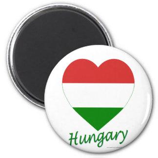 Hungary Flag Heart Magnet