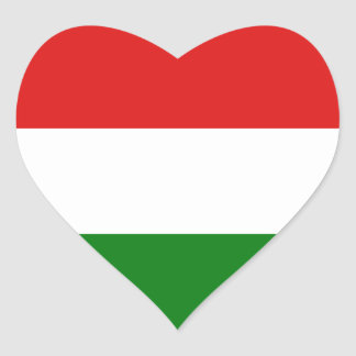 Hungary Flag Heart Sticker