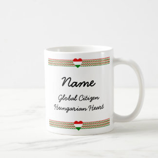 Hungary Flag-hearts Map Customizable Mug