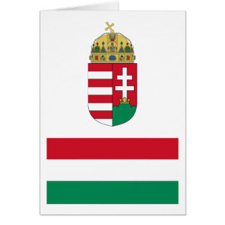 Hungary Flag HU Card