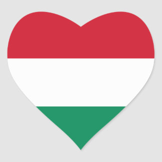 Hungary Flag HU Heart Sticker