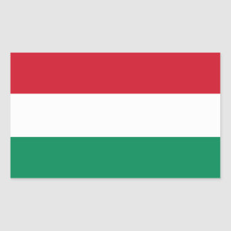 Hungary Flag HU Rectangular Sticker