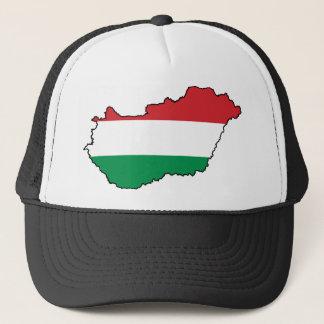 Hungary Flag Map HU Trucker Hat