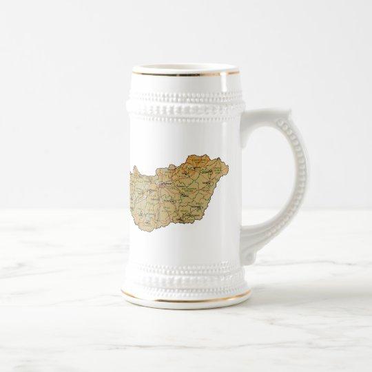 Hungary Flag ~ Map Mug
