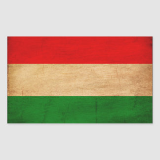 Hungary Flag Rectangular Sticker