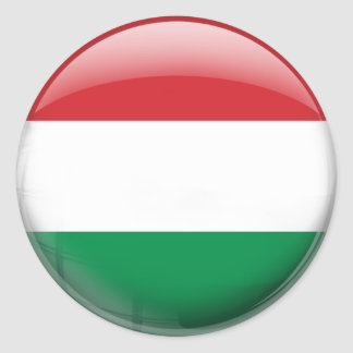 Hungary Flag Round Sticker