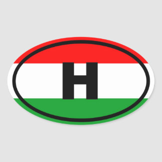 Hungary - H - European Oval Sticker