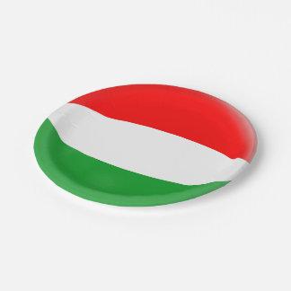 Hungary Hungarian Flag Paper Plate