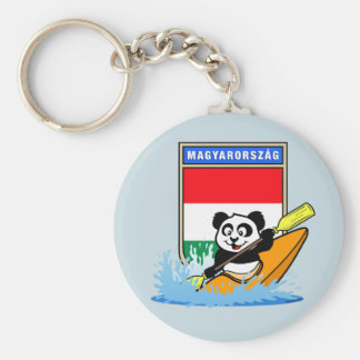 Hungary Kayaking Panda Key Ring