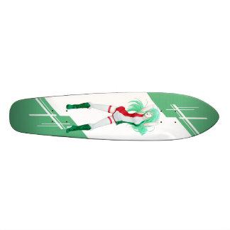 Hungary Manga girl dressed in Flag - Hungarian Skate Board Deck
