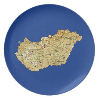 Hungary Map Plate
