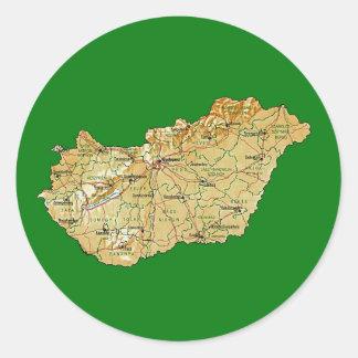 Hungary Map Sticker
