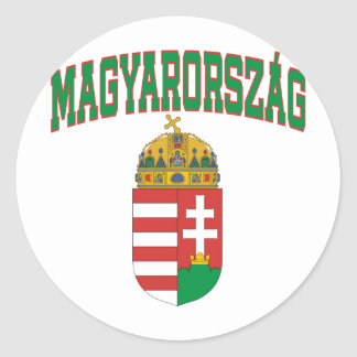 Hungary Round Sticker