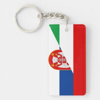 hungary serbia flag country half symbol key ring