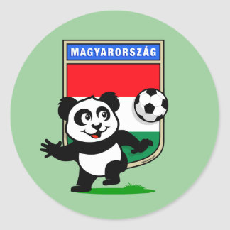 Hungary Soccer Panda Classic Round Sticker
