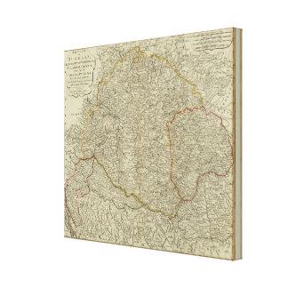 Hungary, Transilvania, Sclavonia, Croatia Canvas Print