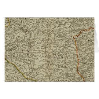 Hungary, Transilvania, Sclavonia, Croatia Card