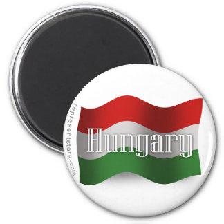 Hungary Waving Flag 6 Cm Round Magnet