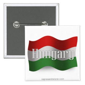 Hungary Waving Flag Button